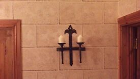 WALL SCONSES AND CANDLES..3AVAILABLE..£25 EACH