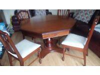 Rossmore Mahogany Pedestal Table