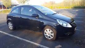 Vauxhall Corsa Club A/C , manual, 1.2, 3 door hatchback,Black, good condition, 11 months MOT