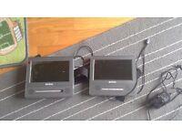 2x Headrest DVD Player USB, SD