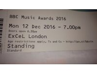 Two tickets for BBC music awards! Robbie Williams, John legend, Craig David and more