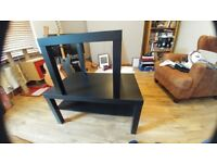 2 x Ikea Lack Tables in Black - Coffee and Side Tables