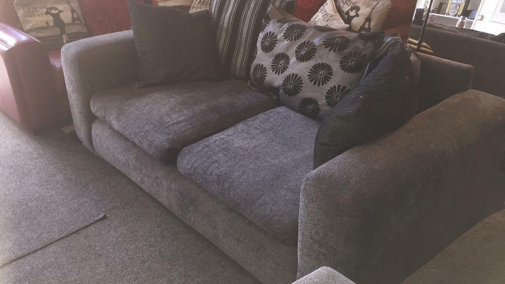 Grey Valour 2x2 Large Sofas 195 Delivered