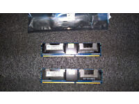 8GB 8x1GB Paired DDR2 667MHz PC2-5300 240p FLHS ECC Fully Buffered DIMM RAM 1.8v