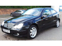 2002 52 MERCEDES C200 KOMPRESSOR SE 1.8 MANUAL MOT 03/17(PART EX WELCOME)