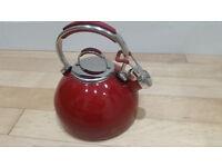 Prestige enamel 2ltr stove top whistling kettle.
