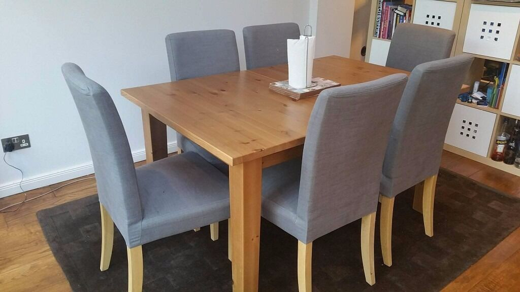 IKEA Stornas 1 extension leaf dining table with Ikea 6x  : 86 from www.gumtree.com size 1024 x 576 jpeg 66kB