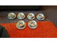 6 piece Royal Sutherland fine bone china cup and saucers