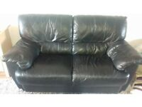 Leather 2 seater sofa good condition free