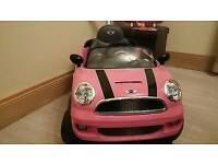 Pink Mini Cooper Ride-On