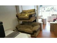 *brand new* chordory and brown leather 3+2 seater sofa now reduced