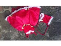 Girls Red Christmas Fancy dress puffy 2 Piece age 5 6 Years