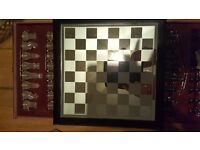 Glass Piece Chess Set Boxed