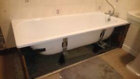 Large White Enamel Bath Tub
