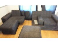 Modular sofa set in black
