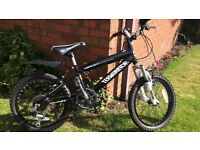 "Boys Black 18""Bike (age 6 to 9) excellent condition -6 gears"