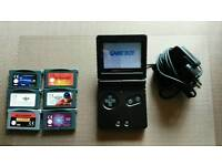 Nintendo gameboy advance sp with 6 games