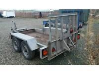8x4 plant mini digger trailer twin axle