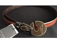Ted Baker leather belt with tags