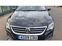 2009 Volkswagen passat cc 2.0 TDI 140 CRGT, 105k Manual. 3 owners black, full service history £4725