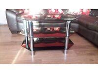 Universal 3 Shelf Black TV Stand