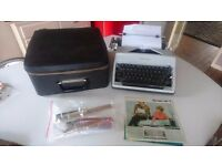 VINTAGE QUALITY GERMAN MADE OLYMPIA SM9 PORTABLE TYPEWRITER + CASE INSTRUCTIONS BRUSHES ETC GWO