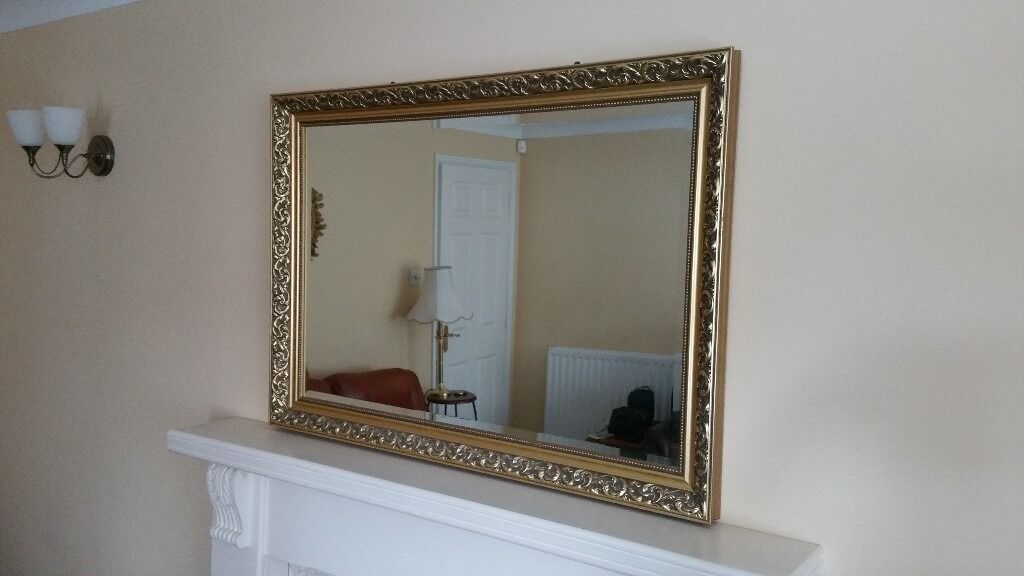 Large Mirror, Over Fireplace, Wall Mounting