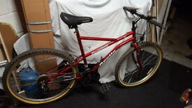 "Mountain bike Unisex 21"" frame 26"" wheels like new"