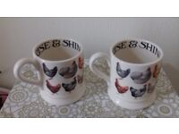 Pair of Hen and Toast Mugs