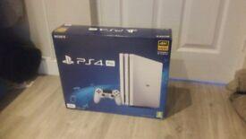Playstation 4 Pro, Glacier White (new, still in box)