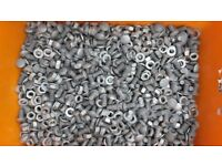 10 KILOS OF 20mm M10 GALVANIZED NUTS, BOLTS AND WASHERS.