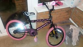 "Girls Hello Kitty bike - 14"" wheels"