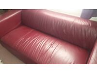 Red Leather Sofa 2 seater