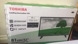 "Toshiba 32"" TV BRAND NEW can deliver see description"