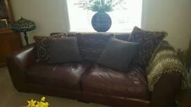 BARGAIN 3 seater leather sofa