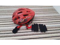 Disney cars kids cycle helmet