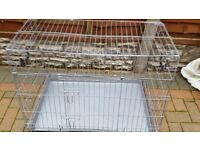 DOG CAGES AND BEDS ETC