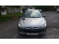 1.1 peugeot 206 petrol manual 2003 year 47000 mile service history mot 16/5/17 hpi clear
