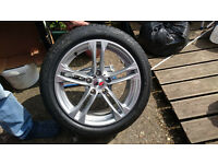 """BMW Msport 18"""" alloys with runflat tyres 245/45/18"""