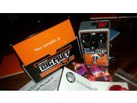"""Electro-Harmonix Op Amp Big Muff Pi w/JHS Smashing """"Pumpkin Patch"""" Mod - Velcro fuzz to Muff HUGE"""