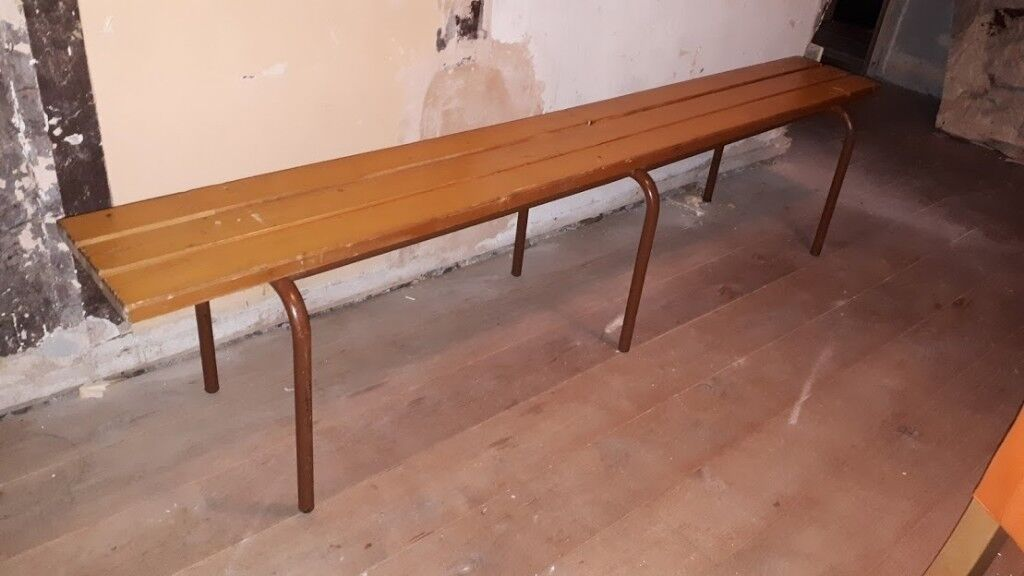 Old gym style changing room bench in alloa clackmannanshire