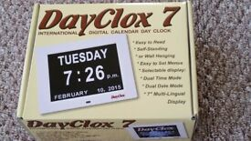 DayClox 7 international digital calendar day clock