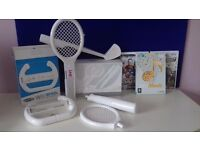 3 Wii games and accessories