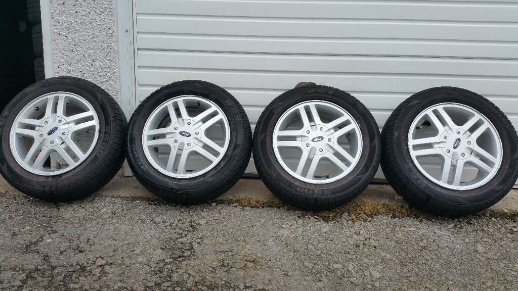 Ford Genuine 15 alloy wheels + 4 x tyres 195 60 15