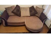 DFS Merida sofa with footstool