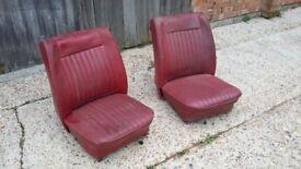 Pair Vintage Retro Car Seats Triumph ? Project. Tilt forward CAN SPLIT Chair Chairs