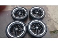 Ford/peugeot 17inch alloy wheels,tyres