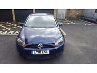 Volkswagen Golf 2010. Blue 1.4L. 40k genuine warranted mileage. Mot 1 year 1 former keeper