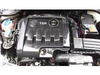 2009 Volkswagen Audi Seat 1.9 BXE Engine Complete With Gearbox 50K Warranty