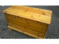 Solid pine blanket box/toy box
